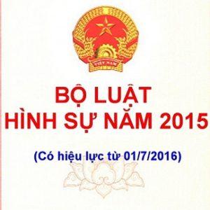 Bộ Luật Hình Sự Năm 2015