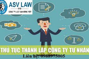 Thu Tuc Thanh Lap Cong Ty Tu Nhan
